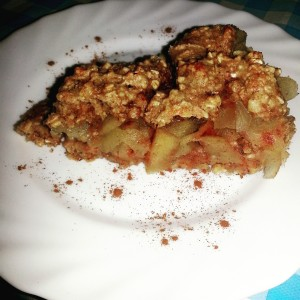 Crumble de manzana. Elena Somoano
